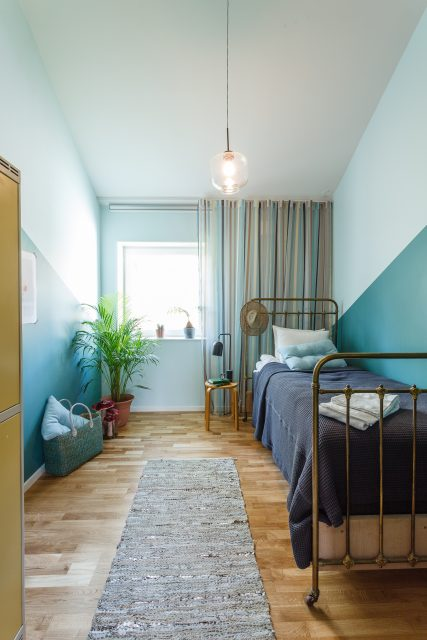 Hus utan sladd - Wenngarn turkosa rummet