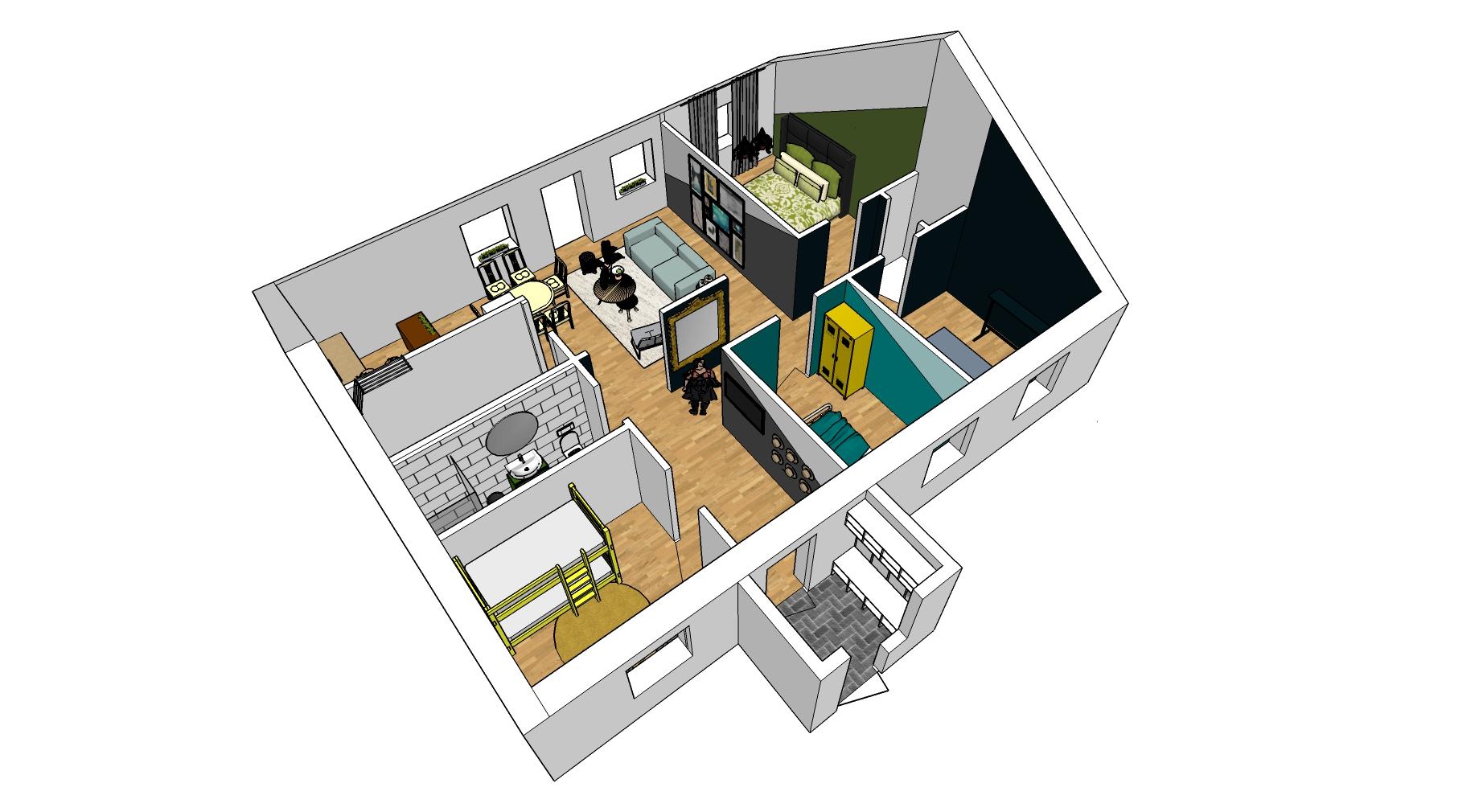 Hus utan sladd - Wenngarn översikt 3d