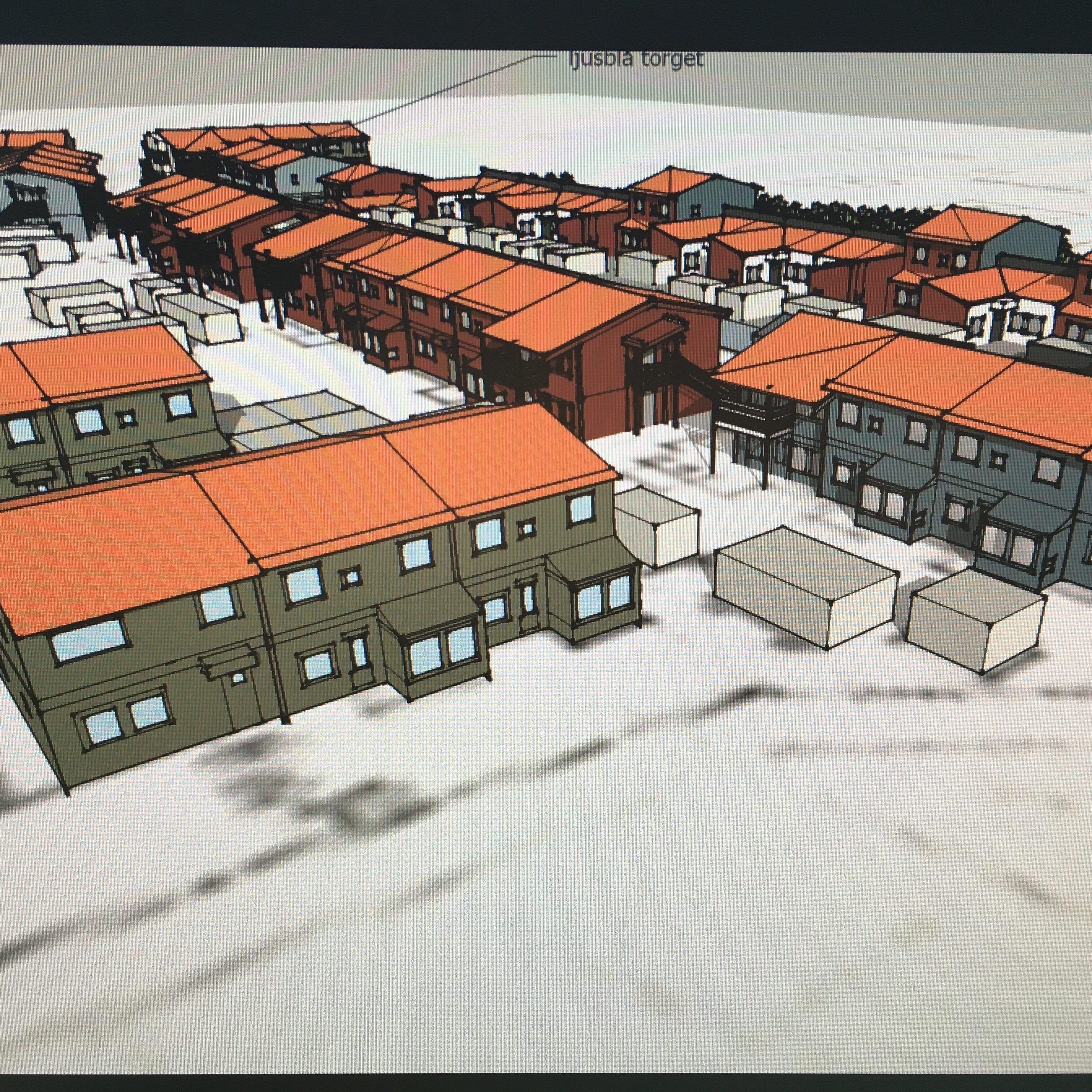 Färgsättning bostasdprojekt Erskine hus Ekerö